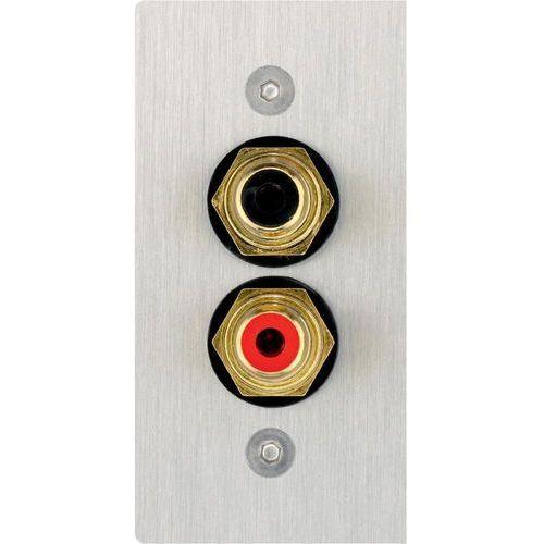 Inakustik Audio przejściówka, adapter  00980085026 980085026, [2x złącze żeńskie cinch - 2x do lutowania], stali szlachetnej, wykonanie złącza: proste, miedź