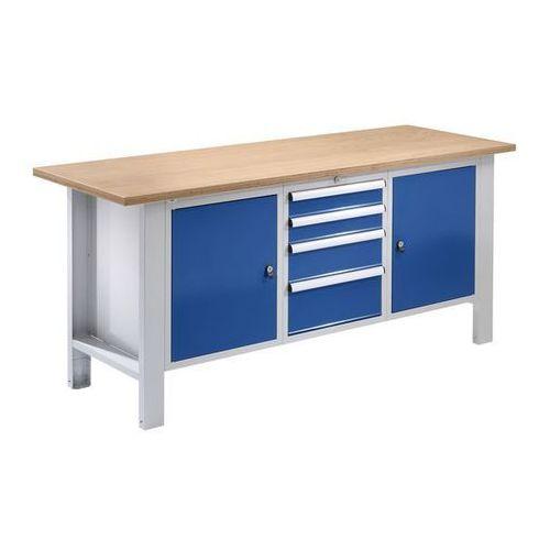 Quipo Stół warsztatowy,szer. blatu 1850 mm, 4 szuflady, 2 drzwi