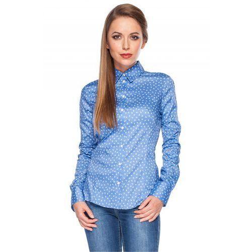 Koszula niebieska w biały wzór - marki Duet woman