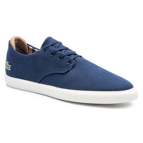 Tenisówki LACOSTE - Esparre 219 1 Cma 7-37CMA0025J18 Nvy/Off Wht Cnv, kolor niebieski