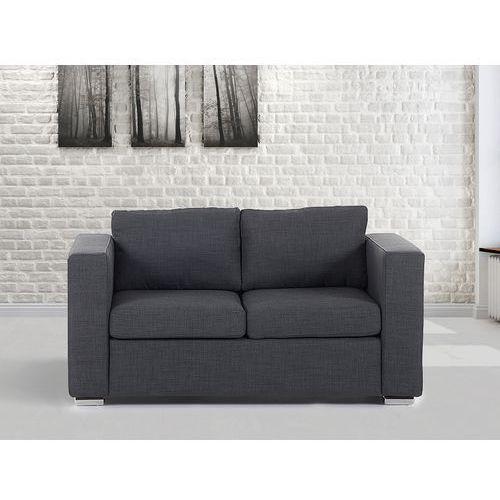 Sofa ciemnoszara - dwuosobowa - kanapa - sofa tapicerowana - helsinki marki Beliani