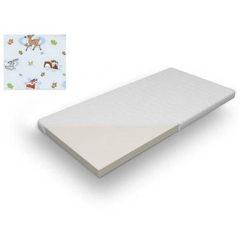 Materac dziecięcy gumiś 70x140 piankowy, pokrowiec na materac gratis marki Frankhauer