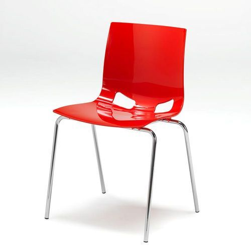 Krzesło do stołówki juno, czerwony marki Aj produkty