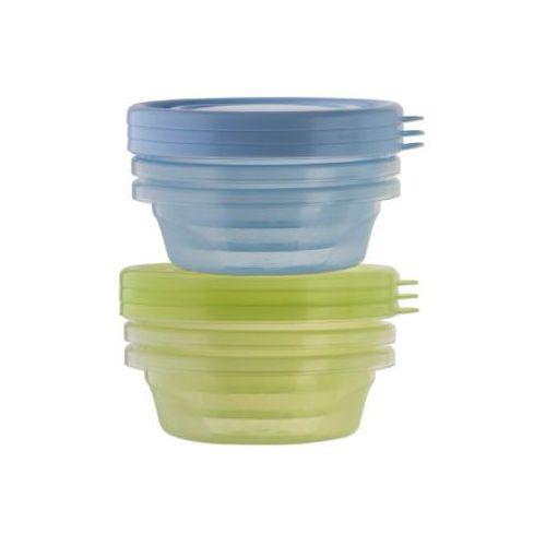 Rotho babydesign Rotho pojemniki na pokarm z przykrywką 6 szt. kolor niebieski/zielony (4250226037540)
