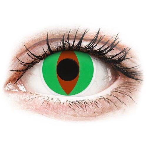 Soczewki kolorowe zielone raptor crazy lens 2 szt. marki Maxvue vision