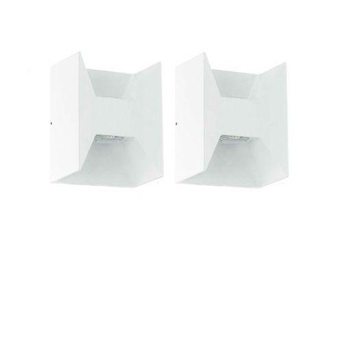 MORINO-2 Kinkiety zewnętrzne LED 2-punktowe Aluminium Biały Wys.18cm