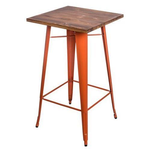 Stół barowy paris wood pomarańcz sosna modern house bogata chata marki D2.design
