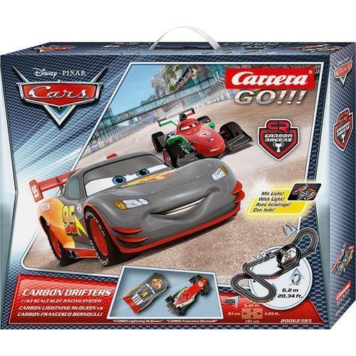 Tor wyścigowy  go!!! auta - carbon drifters disney / pixar - carbon drifters 20062385, zestaw startowy marki Carrera