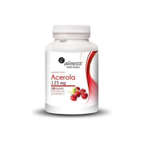 Tabletki Acerola 125mg x 120 tab. Naturalna lewoskrętna witamina C