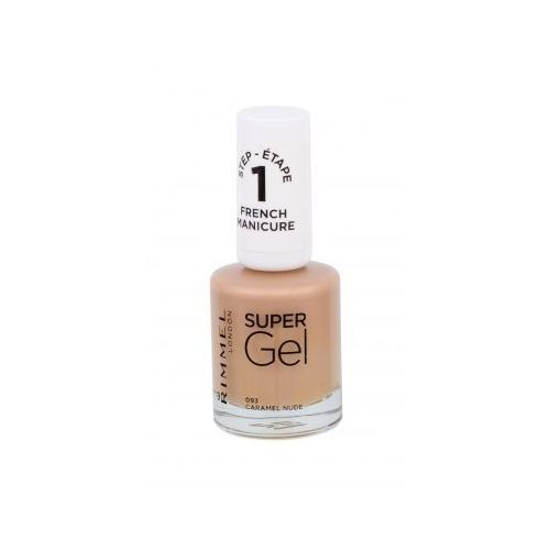 Rimmel London Super Gel French Manicure STEP1 lakier do paznokci 12 ml dla kobiet 093 Caramel Nude (30121577)