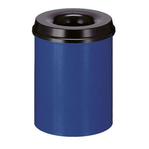 Kosz na papier, samogaszący, poj. 15 l, korpus niebieski / głowica gasząca czarn
