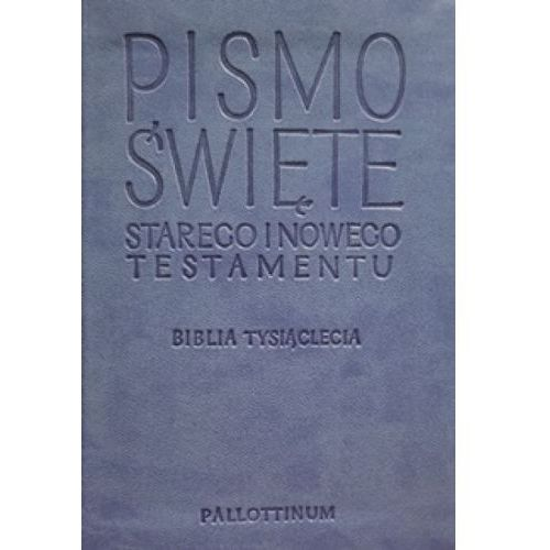 Pismo Święte Starego i Nowego Testamentu - Biblia Travel ekoskóra jasnoniebieska (1660 str.)