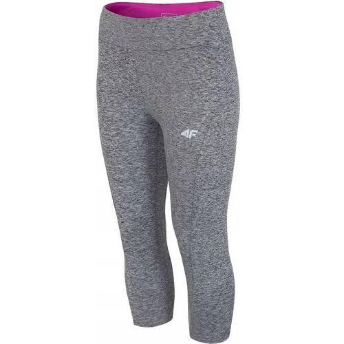 Spodnie damskie spdf001 - ciemny szary melanż, 4f