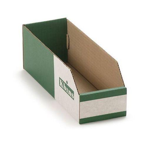 Skrzynki regałowe z kartonu, składane, opak. 50 szt., dł. x szer. x wys. 300x100 marki K bins limited