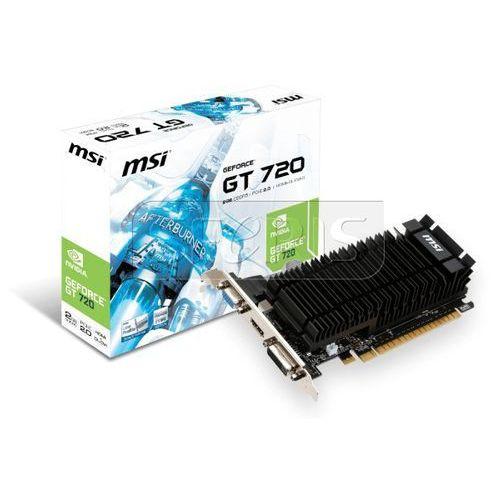 Karta graficzna MSI GeForce GT 720, 2GB GDDR5 (64 Bit), HDMI, DVI, D-Sub - N720-2GD5HLP