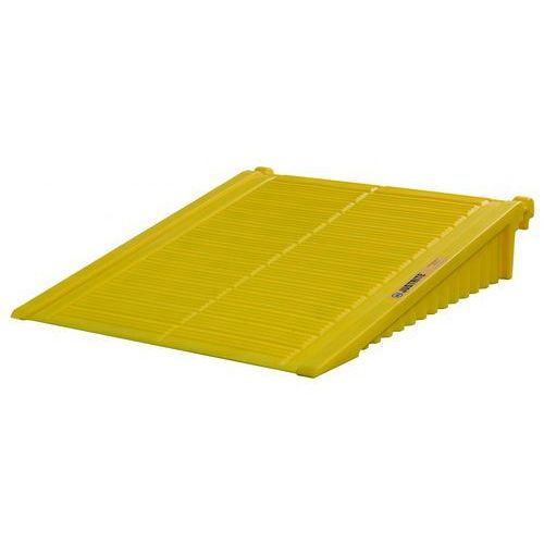 Rampa podjazdowa do stanowiska roboczego Eco, polietylenowa, żółta