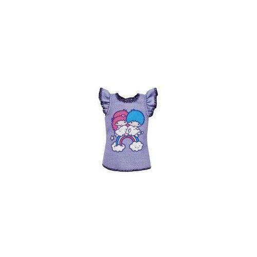 Barbie ubranka z ulubie�cami top mattel (fioletowy z bli�niakami)