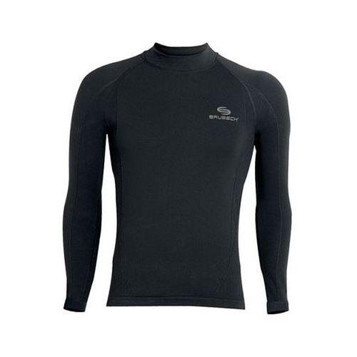 Brubeck dirt ls00120 - męska bluza z długim rękawem (czarny)