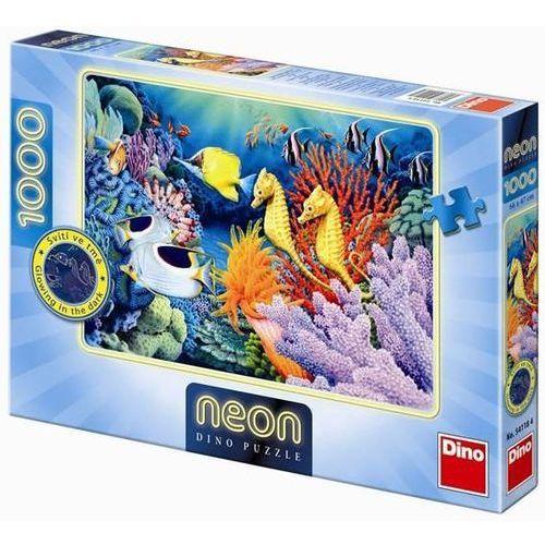Dino toys Puzzle 1000 neon pod wodą dino