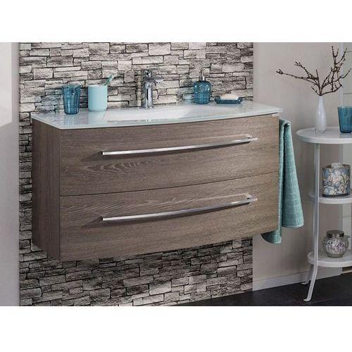 Szafka łazienkowa z umywalką 100 rondo - koniakowy dąb \ 100 cm marki Fackelmann
