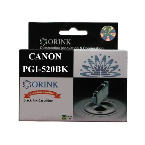 Zastępczy atrament canon [pgi-520bk] black 100% nowy marki Orink