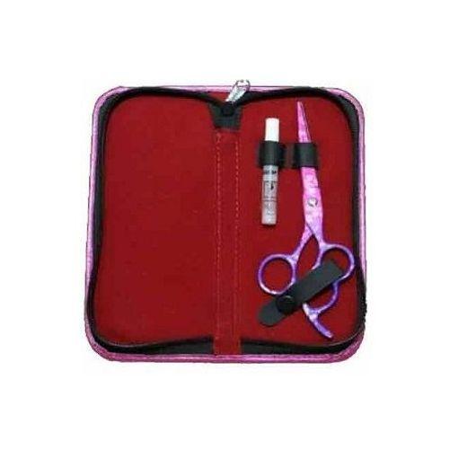 Futerał etui na nożyczki fryzjerskie pink kassaki marki Enzo england