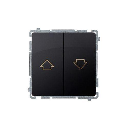SIMON BASIC Przycisk żaluzjowy (moduł) 10AX, 250V~, zaciski śrubowe; grafit matowy BMZ1.01/28 WMUL-040xxx-G011, BMZ1.01/28