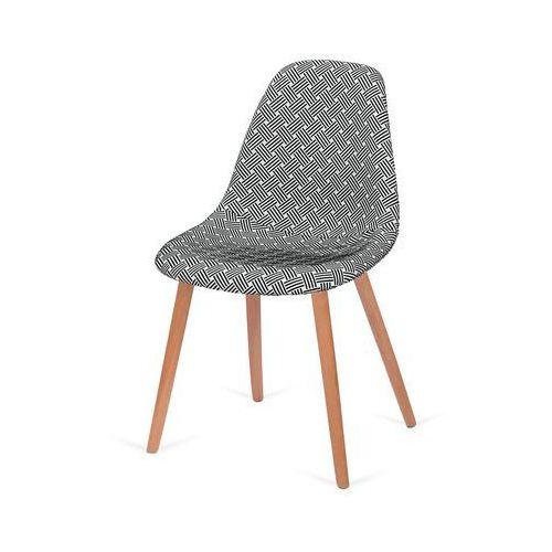 Krzesło tapicerowane plush - podstawa bukowa - splot marki King home