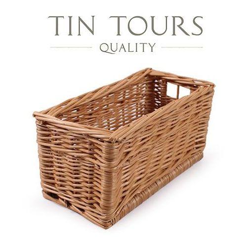 Tin tours sp.z o.o. Prostokątny wiklinowy koszyk 29x14x14h cm