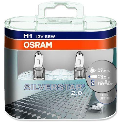 OKAZJA - Osram żarówki samochodowe silverstar h1 12v 55w - 2 sztuki