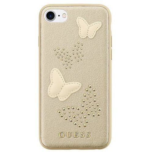 Guess studs & sparkles - etui iphone 8 / 7 (beżowy) (3700740407295)