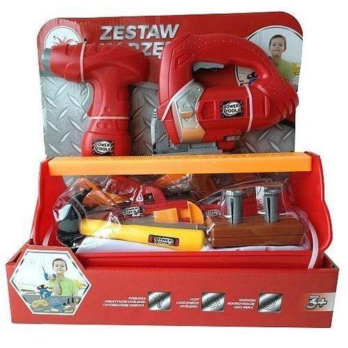 Playme - Zestaw narzędzi z wkrętarką, wyżynarką 23el. - czerwony (5907791580436)