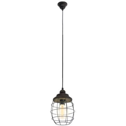 lampa wisząca VINTAGE BAMPTON - 18 cm patyna brązowa, EGLO 49219