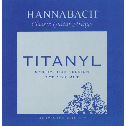 (653158) e950 mht struny do gitary klasycznej (medium heavy) - komplet 3 strun diskant marki Hannabach