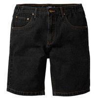 Bermudy dżinsowe classic fit czarny marki Bonprix