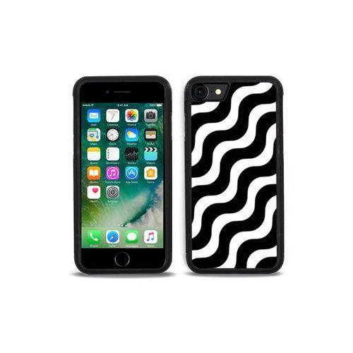 Apple iPhone 7 - etui na telefon Aluminum Fantastic - biało-czarna fala, kolor wielokolorowy