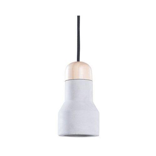 Beliani Lampa jasnoszara - jasne drewno - sufitowa - żyrandol - lampa wisząca - apure
