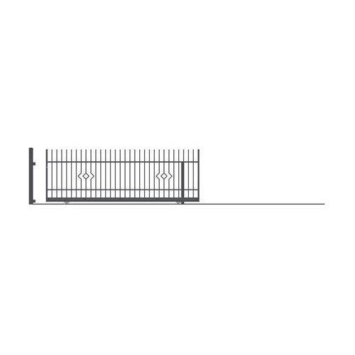 Polargos Brama przesuwna bez przeciwwagi lila 400 x 152 cm prawa (5902360113640)