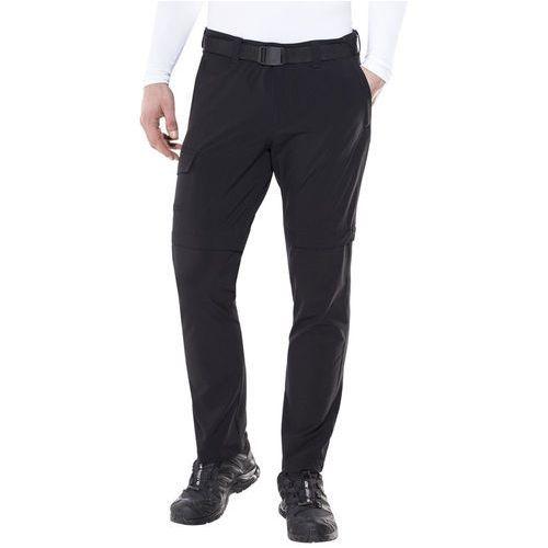 Maier sports torid slim spodnie długie mężczyźni czarny 50-krótkie spodnie z odpinanymi nogawkami