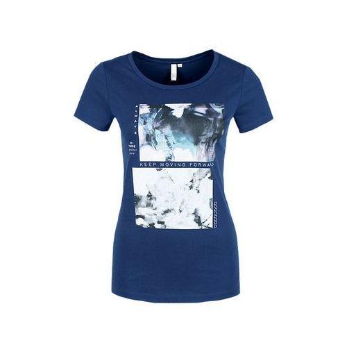 Q/S designed by KURZARM Tshirt z nadrukiem blue