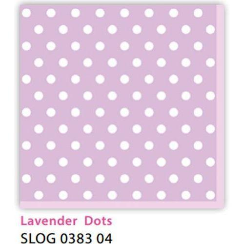 Serwetki 33 x 33 cm SLOG 038304 Kropki białe na fioletowym tle
