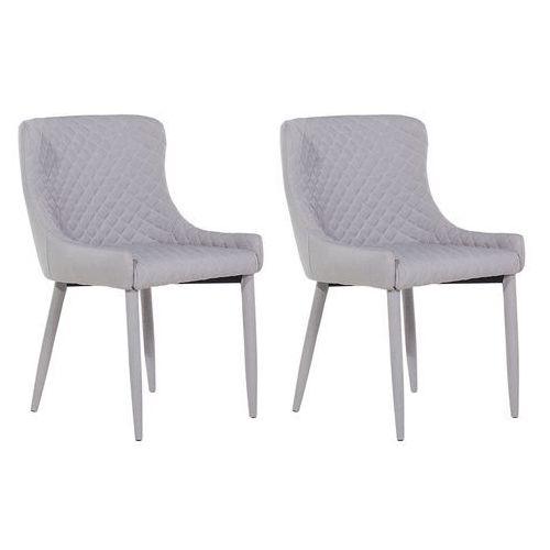 Zestaw do jadalni 2 krzesła szare SOLANO, kolor szary