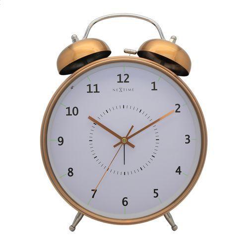 Budzik Nextime Wake Up 20 cm copper