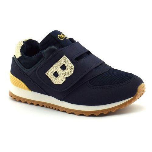 Sportowe buty dziecięce 516y038 - złoty ||granatowy marki Befado