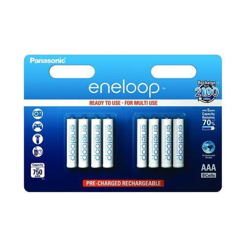 8 x Panasonic Eneloop R03/AAA 800mAh BK-4MCCE/8BE (blister), BK-4MCCE/8BE