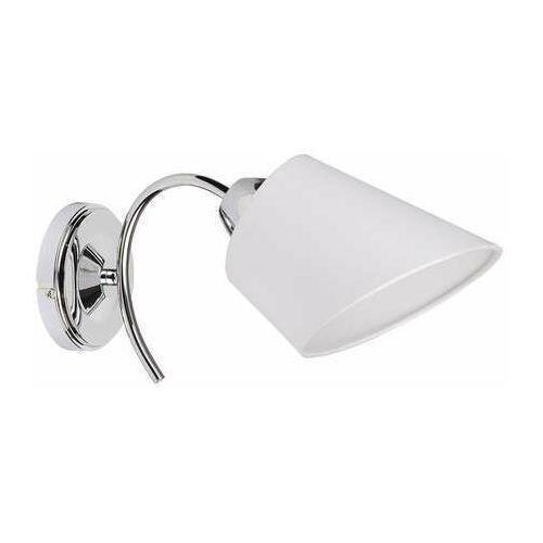 Spot Light Mette 8341128 kinkiet lampa ścienna 1x40W E27 srebrny/biały