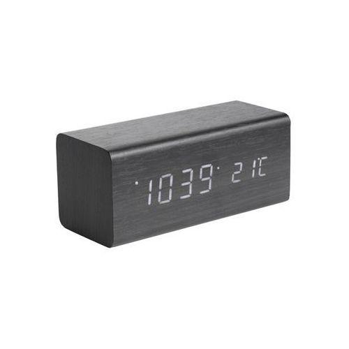 Zegar stołowy, budzik BLOCK black, white LED by Karlsson, KA5652BK