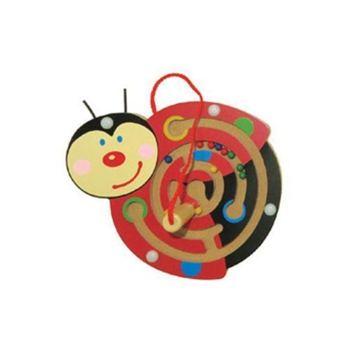 Drewniana zabawka magnetyczna Biedronka