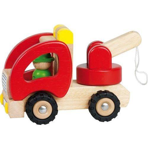 Samochód drewniany z podnośnikiem marki Goki