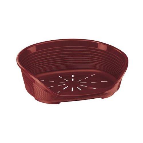 legowisko plastikowe siesta deluxe 2 49x36x17,5cm kolor: bordowy marki Ferplast